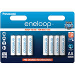 Panasonic Eneloop AA Rechargeable NiMH Batteries (1900mAh, 8-Pack, Clamshell)