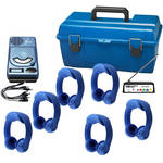 HamiltonBuhl : 6-User Wireless Listening Center with AudioChamp Player and Dual-Channel Flex-PhonesAF (Blue)
