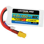 Common Sense RC Lectron Pro 1350mAh 80C LiPo Battery with XT60 Connector for FPV Racers (4-Cell, 14.8V)