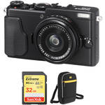 Fujifilm X70 Digital Camera with Free Accessory Kit (Black)