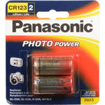 Panasonic CR123A Lithium Batteries (3V, 2-Pack)