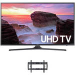 "Samsung MU6300 55"" Class HDR UHD Smart LED TV and Tilting Wall Mount Kit"