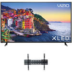 "VIZIO E-Series 70""-Class HDR UHD SmartCast XLED Home Theater Display and Tilting Wall Mount Kit"