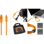 Tether Tools Starter Tethering Kit with USB-C to 2.0 Mini-B, 8-Pin, 15' (4.6m) (Orange)