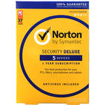 Symantec Norton Security Deluxe (5-Devices / 1-Year License / Download)