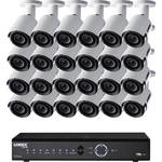 Lorex 32-Channel 4K UHD NVR with 8TB HDD and 24 4MP Bullet Cameras with Color Night Vision