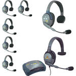 Eartec HUB7SMXSAU UltraLITE 7-Person HUB Intercom System with Max 4G Single Headset (AU)
