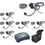 Eartec UPMON6 UltraPAK 6-Person HUB Intercom System with Monarch Headset