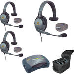 Eartec UPMX4GS3 UltraPAK 3-Person HUB Intercom System with Max4G Single Headset