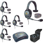 Eartec UPMX4GS5 UltraPAK 5-Person HUB Intercom System with Max4G Single Headset