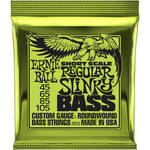 Ernie Ball Regular Slinky Nickel Wound Short-Scale Electric Bass Strings (4-String Set, .045 to .105)