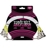 "Ernie Ball 1/4"" Right-Angle to 1/4"" Right-Angle Patch Cable (1', White, 3-Pack)"