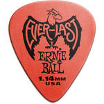 Ernie Ball Everlast Electric Guitar Picks (1.14mm, Red, 12-Pack)