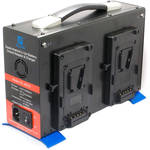 CINEGEARS Quad-Charger Power Station (Gold-Mount, 24 VDC)