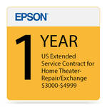 Epson 1-Year US Extended Service Contract for Home Theater Repair/Exchange ($3000-4999)