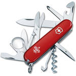 Victorinox Explorer Pocket Knife (Red, Boy Scouts of America Edition, Clamshell Packaging)