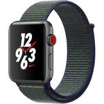 Apple Watch Series 3 42mm Smartwatch (GPS + Cellular, Space Gray Aluminum Case, Midnight Fog Midnight Fog Nike Sport Loop)