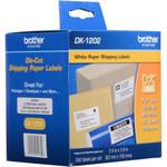 "Brother DK1202 2-3/7"" x 4"" White Shipping Paper Labels (300 Labels)"