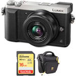 Panasonic Lumix DMC-GX85 Mirrorless Micro Four Thirds Digital Camera with 12-32mm Lens and Accessories Kit (Silver)