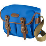 Billingham Hadley Shoulder Bag Small (Imperial Blue with Tan Leather Trim and Orange Lining)