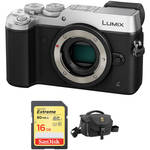 Panasonic Lumix DMC-GX8 Mirrorless Micro Four Thirds Digital Camera Body with Accessory Kit (Silver)