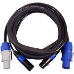 Blizzard Cool Cable powerCON & DMX 3-Pin Combo Cable (50')