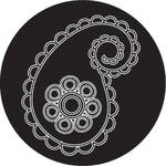 Rosco Paisley 16 B/W Breakup Glass Gobo (Custom Size)