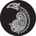 Rosco Paisley 9 B/W Breakup Glass Gobo (Custom Size)