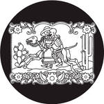 Rosco Day of the Dead Glass Gobo #82824 Horse & Rider (Size B)