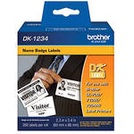 "Brother Adhesive Name Badge White Paper Labels (2.3 x 3.4"", 260 Labels)"