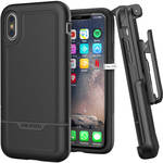 Encased Rebel Series Case with Holster for iPhone X (Black)
