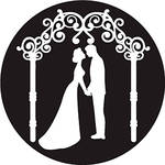 Rosco Kissing Under Trellis B/W Wedding Glass Gobo (A Size)