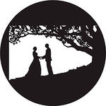 Rosco Kissing Under Tree B/W Wedding Glass Gobo (Custom Size)