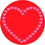 Rosco Heart of Hearts in Color 2-Color Wedding Glass Gobo (B Size)