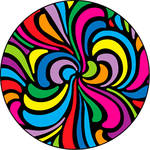 Rosco Swirls Color Breakup Glass Gobo (A Size)