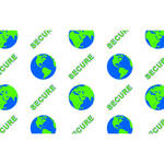 IDP Hologram Patch Type 1-Mil Laminate Film (Secure Globe, 250 Images Per Roll)