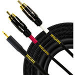 Mogami Gold 3.5mm TRS to Dual RCA Cable (6')