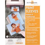 "Lineco Print Sleeves with Locking Side Flap (8.5x11"", 25-Pack)"