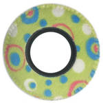 Bluestar Viewfinder Eyecushion -  Round, Small, Fleece (Green Rabbit)