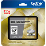 "Brother TZe-M31 Laminated Tape for P-Touch Label Makers (Black on Matte Clear, 0.47"" x 26.2')"