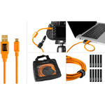 Tether Tools Starter Tethering Kit with USB 2.0 Type-A to Micro-B 5-Pin Cable (15', Orange)