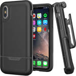 Encased Rebel Series Case with Belt Clip Holster for iPhone XS Max