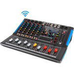 Pyle Pro 6-Channel Bluetooth Studio Mixer and DJ Controller Audio Mixing Console System