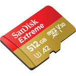 SanDisk 512GB Extreme UHS-I microSDXC Memory Card with SD Adapter