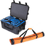 Go Professional Cases Hard-Shell Wheeled Case for DJI Phantom 4 RTK and Ground Station with Tripod Bag Bundle