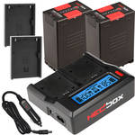 Hedbox BP95D BP-U Two-Battery with Dual Charger Kit