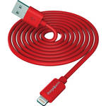 ChargeWorx Lightning Charge and Sync Cable (3', Red)