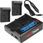 Hedbox RP-DC50 Dual Digital LCD Battery Charger with RP-DD54 Battery Charger Plate Kit