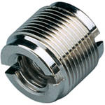 "K&M Reducer Bushing Converts 1/2"" and 3/8"" F to 5/8""-27 M Fitting (Nickel)"