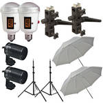 Morris 2 AC Umbrella Flash Kit (120V)